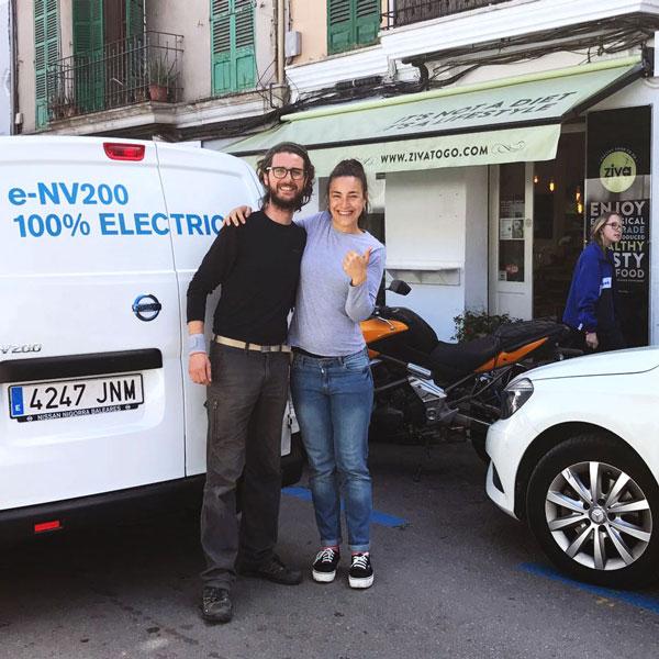 Reparto de productos ecológicos en Palma